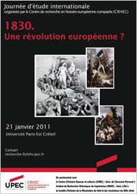 Affiche 1830 une révolution européenne ?