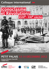 "Colloque international ""Iconoclasme et révolutions"""