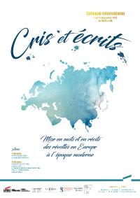 Colloque international Cris et écrits : Mise en mots et en récits des révoltes en europe à l'époque moderne