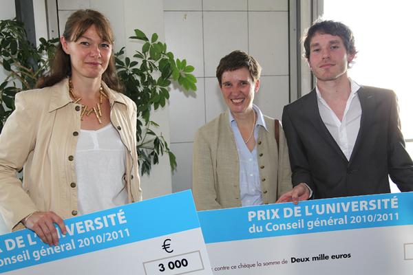 M.-A. Decquidt, M.Touzery, B. Stisi lors de la remise des prix le 20 octobre 2011